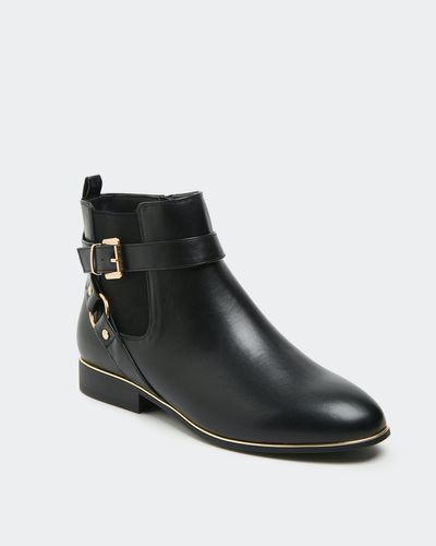 Gold Detail Ankle Boot