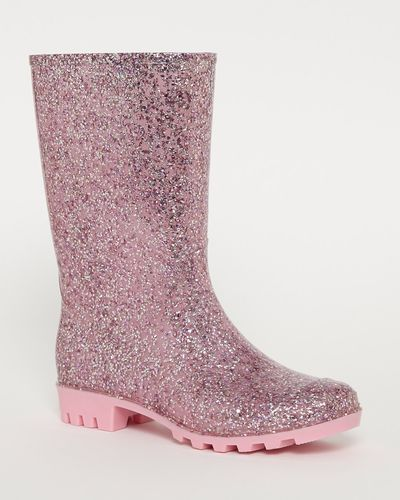 Sparkle Calf Wellington Boots