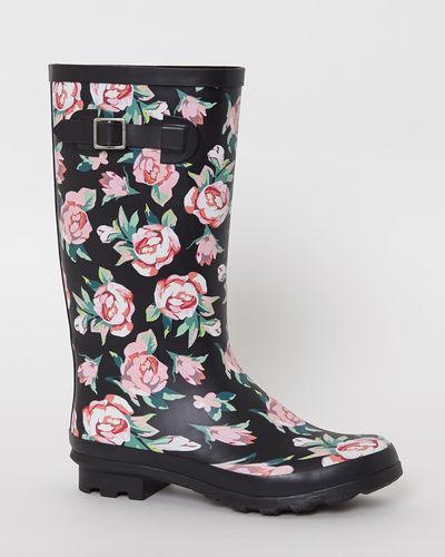 Floral Rubber Knee High Wellie