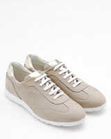 taupe Gallery Suede Lace Shoe
