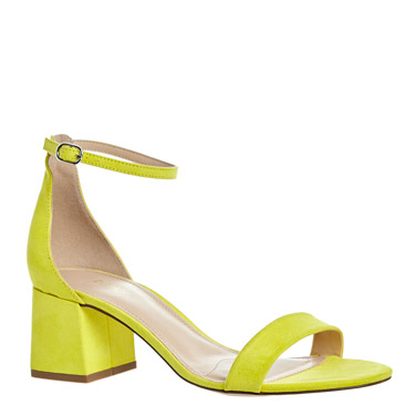 lime Low Block Heel Shoes