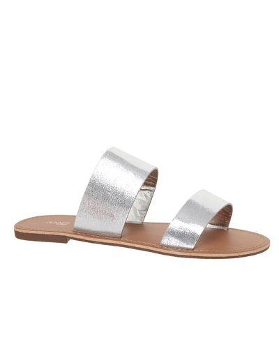 Double Strap Flat Mule Sandals