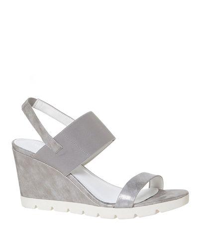 Metallic Wedge Sandals