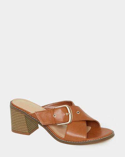 Crossover Buckle Mules