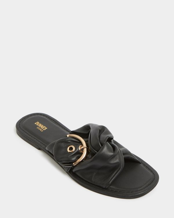 Leather Buckle Flat