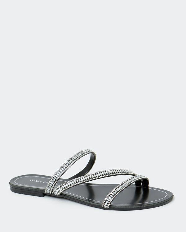 Flat Silver Sandal