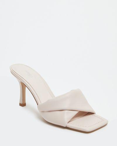 Padded Fold Front Mule Sandal