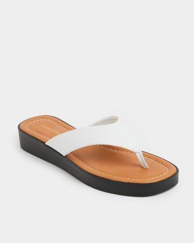 Leather Toepost Sandals