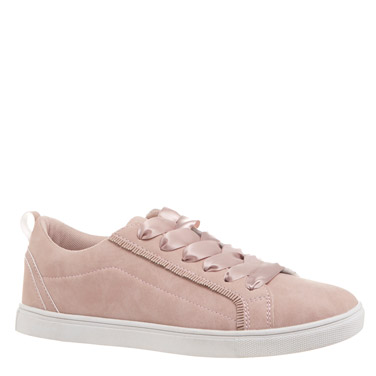 blush Satin Lace Shoes