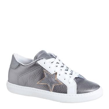 pewterStar Applique Metallic Lace Shoes