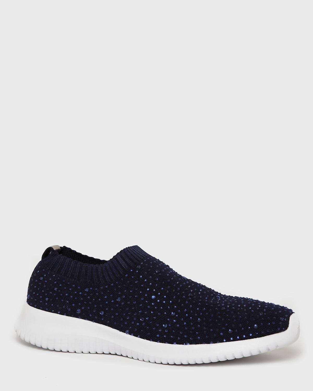 Dunnes Stores | Navy Beaded Knit Slip