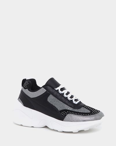 Diamante And Stud Chunky Trainers
