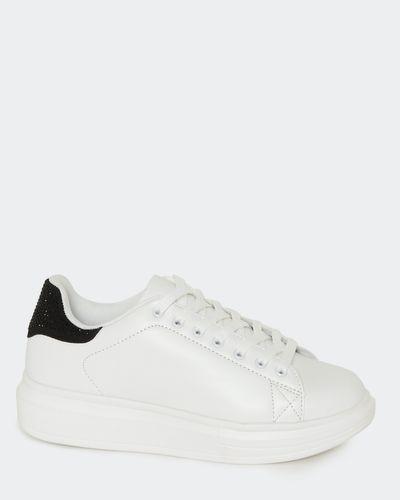 Rhinestone Lace-Up Shoes