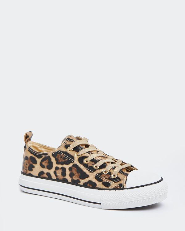 Leopard Toe-Cap Casual Shoes