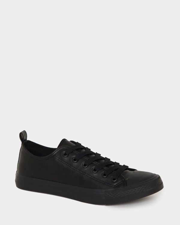Leather Look Lace Toe Cap Shoes
