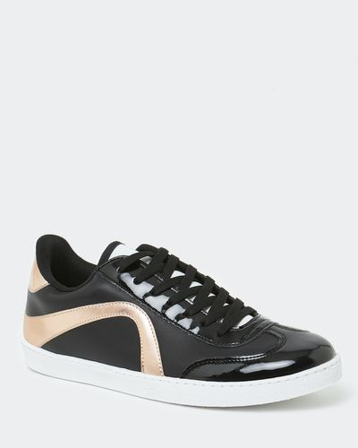 Two Tone Lace Up Trainer