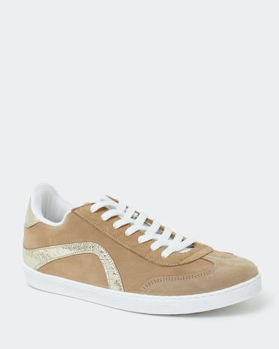 Leather Suede Lace Up Trainer
