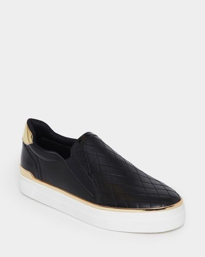 Quilted Slip On Shoes