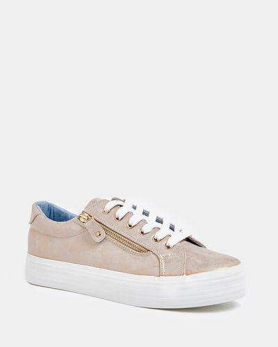 Platform Side Zip Shoes