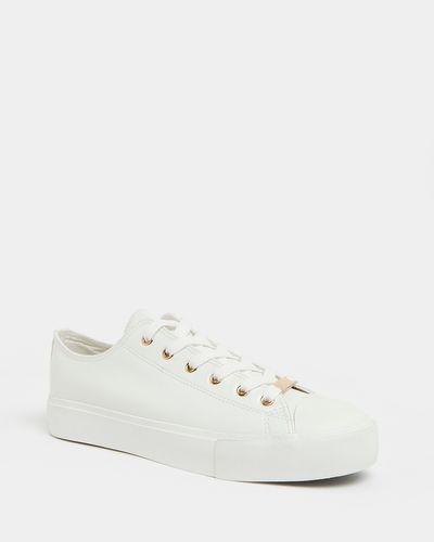 White And Rose Gold Toe-Cap Shoe thumbnail