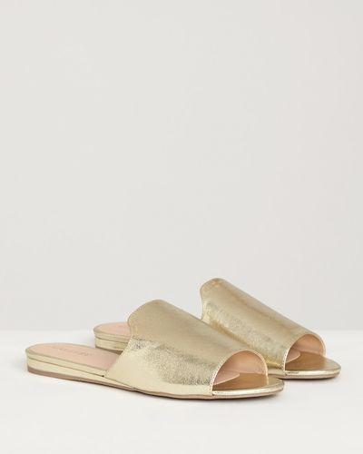 Gallery Gold Flat Sandal