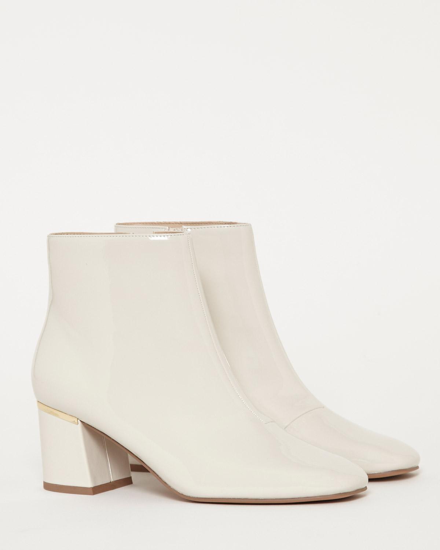 Ivory Gallery Ecru Patent Boots
