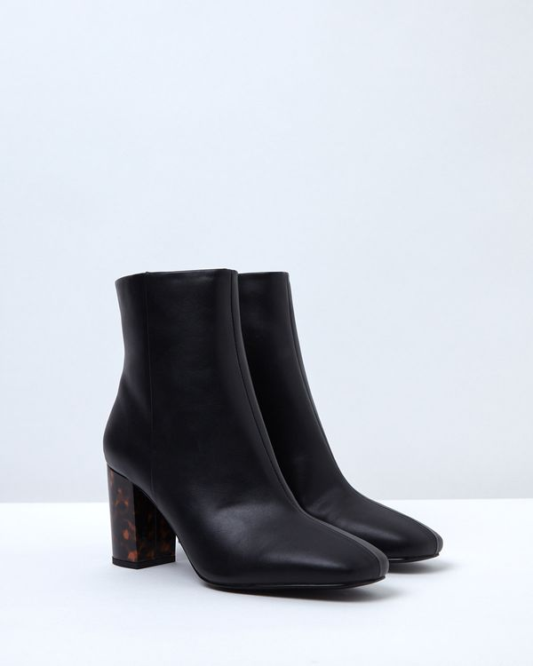 Gallery Tortoise Heel Ankle Boots