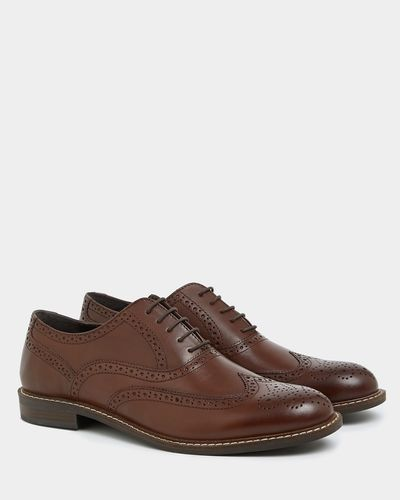 Stitched Leather Brogues