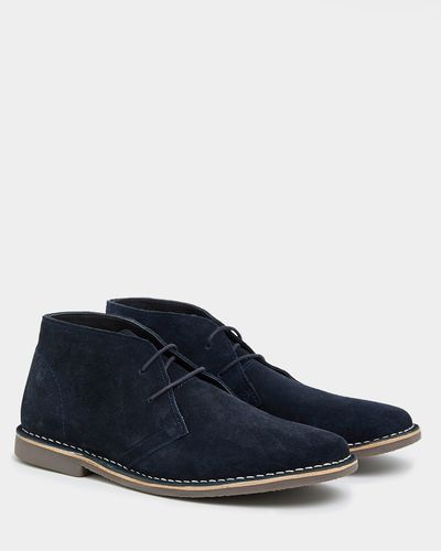 Suede Leather Desert Boots