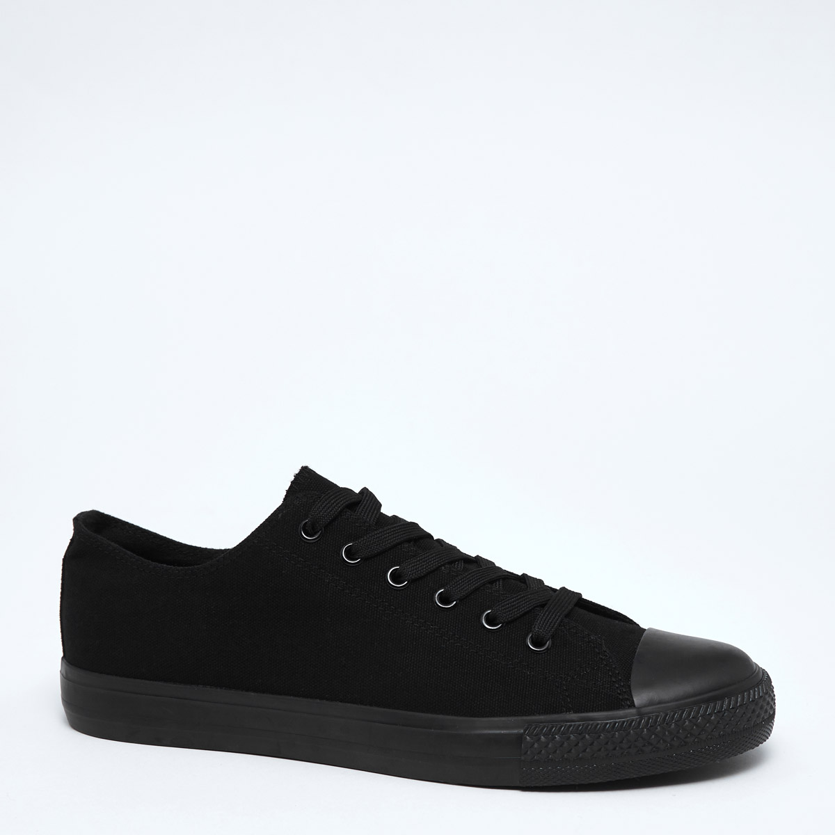 Dunnes Stores | Black Round Toe Canvas