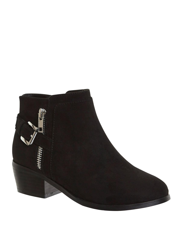 Black Older Girls Heeled Boots