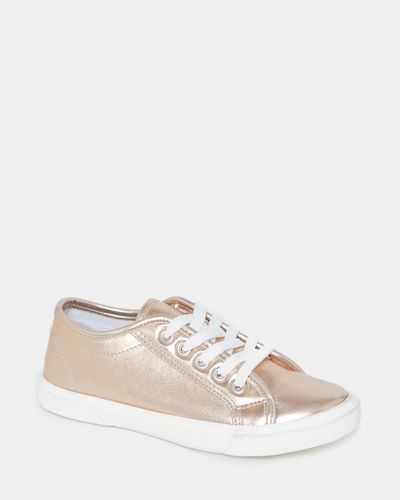Rose Gold Metallic Lace Up Shoes