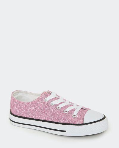 Girls Glitter Toe Cap Canvas Shoes thumbnail