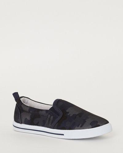 Boys Camo Slip On Shoes