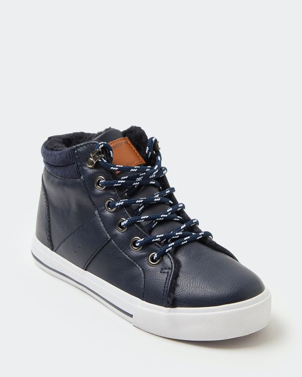 Boys Lined High Top Boots