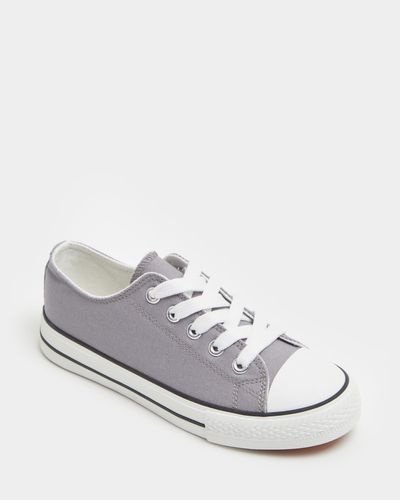 Boys Toe Cap Canvas Shoe (Size 8-5) thumbnail