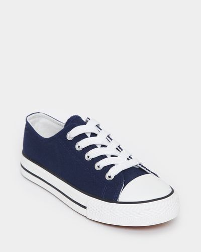Boys Toe Cap Canvas Shoe
