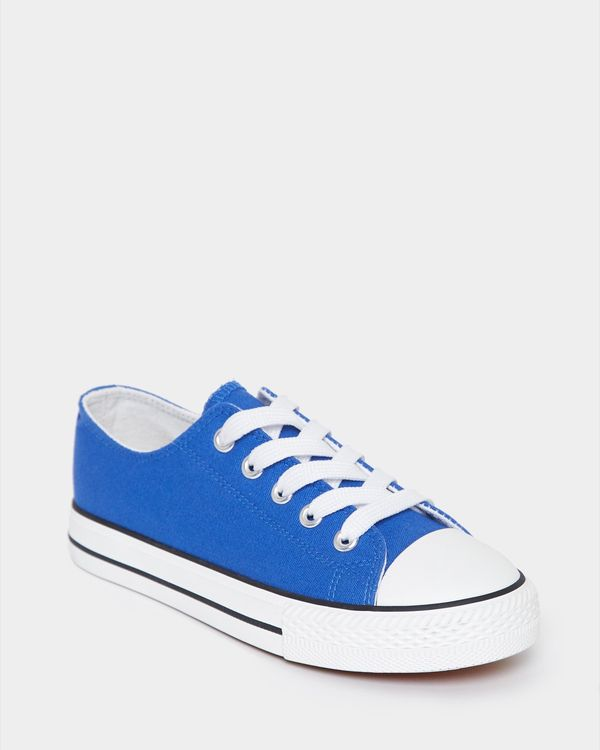 Boys Toe Cap Canvas Shoe (Size 8-5)