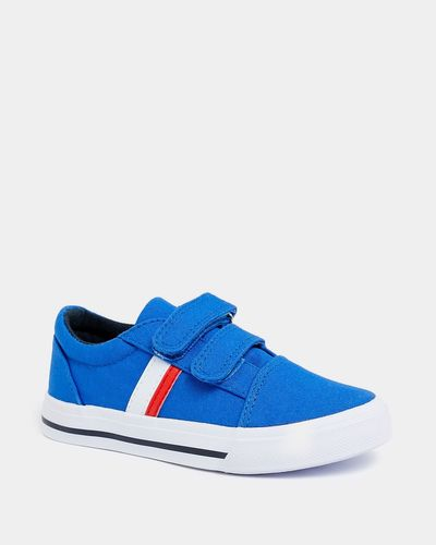 Younger Boys Strap Canvas Shoes