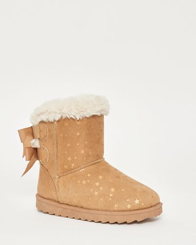 Younger Girls Casual Faux-Fur Boots