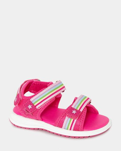 Younger Girls Rainbow Tape Sporty Sandals