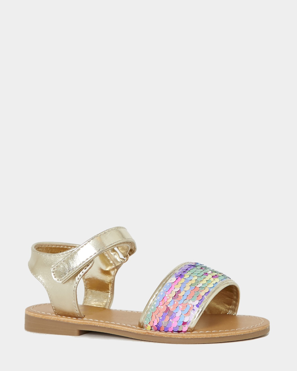 Younger Girls Reverse Sequin Sandals