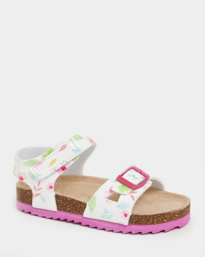 Younger Girls Print Footbed Sandals