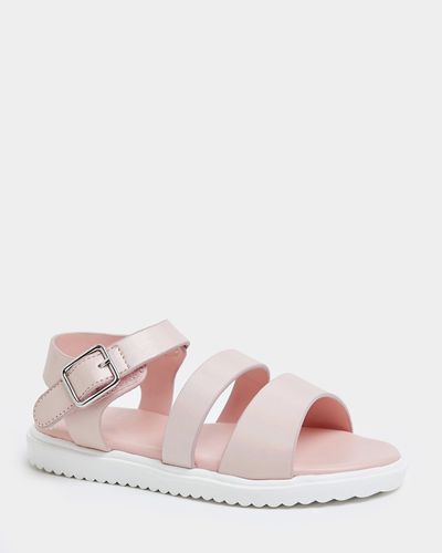 Younger Girls Pink Strap Sandal