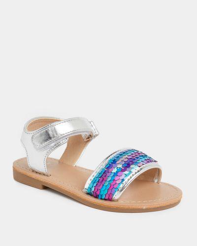 Girls Reverse Sequin Sandal (Size 8-2)