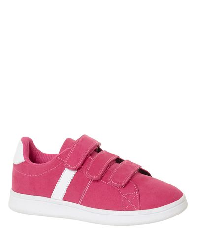 Younger Girls Suedette Strap Shoes