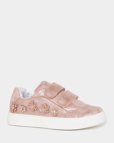 Younger Girls Applique Strap Shoes