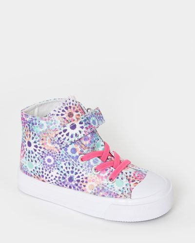 Printed Canvas Boots