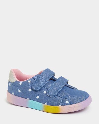 Rainbow Sole Denim Shoes