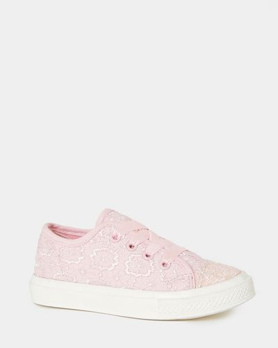 Younger Girls Lace Canvas Shoes